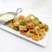 Milk fried calamari